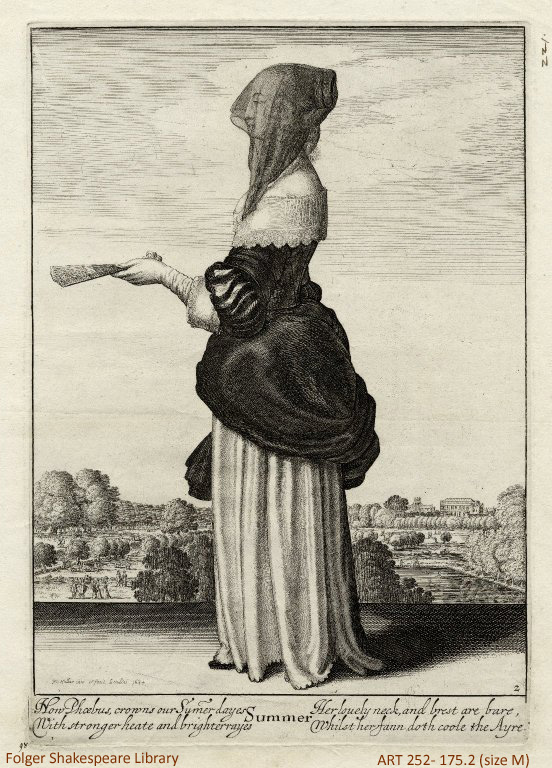 """Summer"" from Wenceslaus Hollar's Allegories of the Four Seasons, 1643-44"
