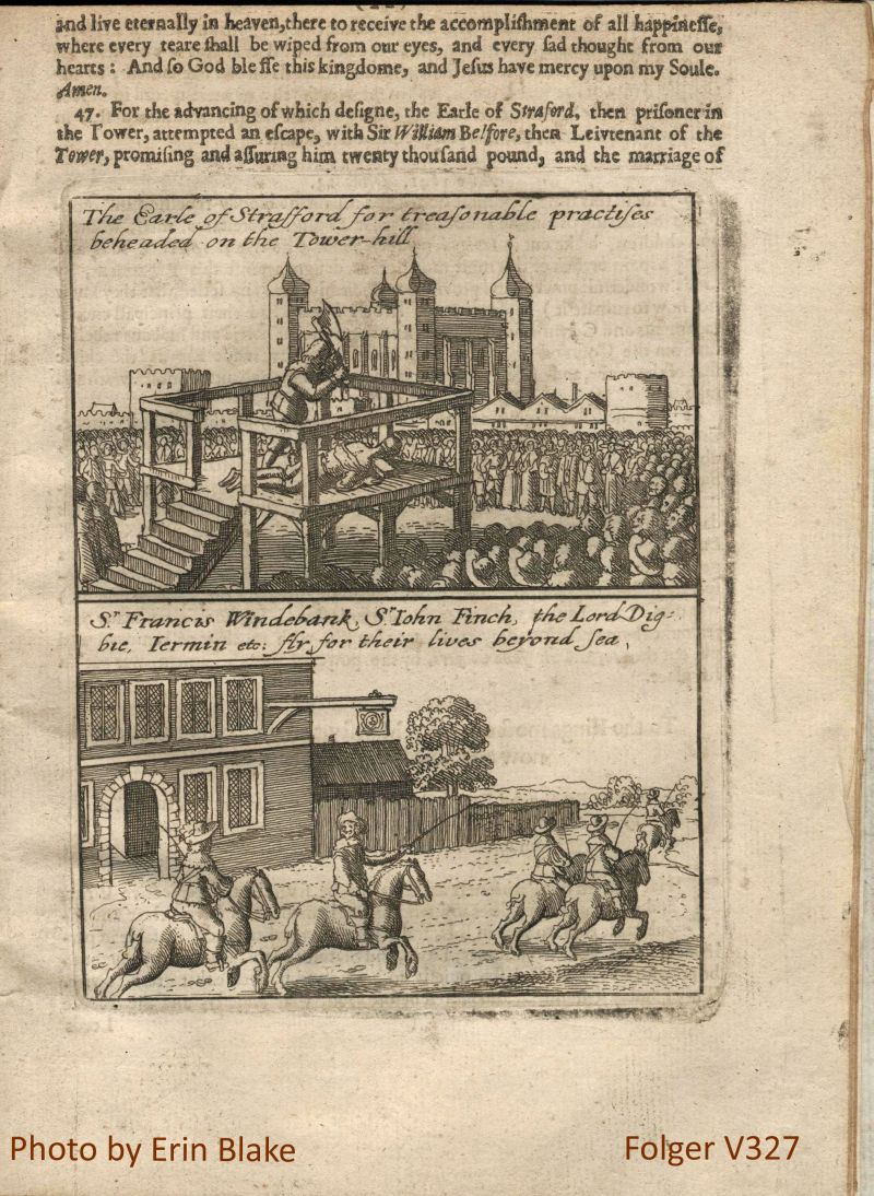 Beheading of the Earl of Strafford; Fleeing of Sir Francis Windebank et al.