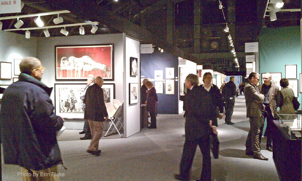 IFPDA print fair crowd scene