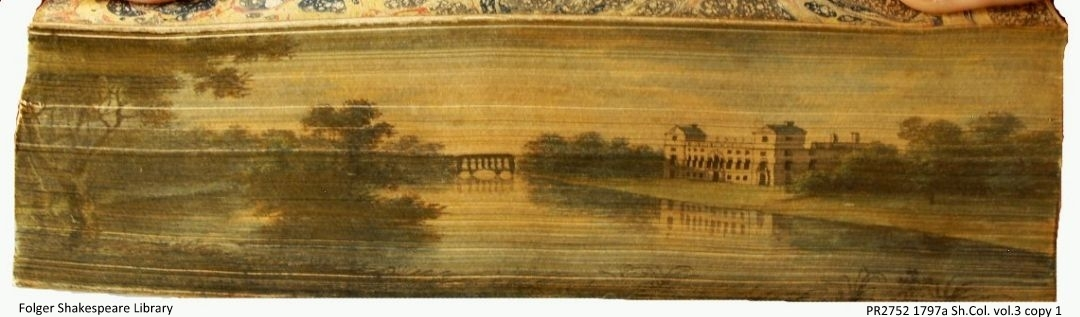Fore edge painting,Cornish scene, Handy Volume Shakespeare 10