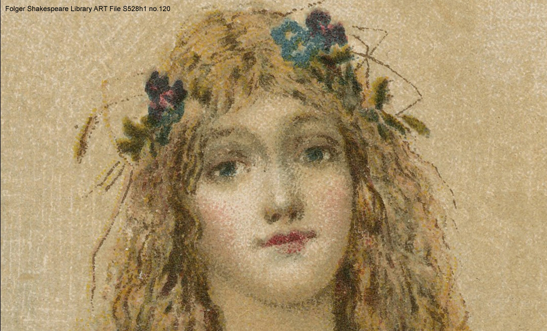 Detail of Ophelia from a late 19th-century chromolithograph