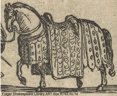 Etching depicting a horse