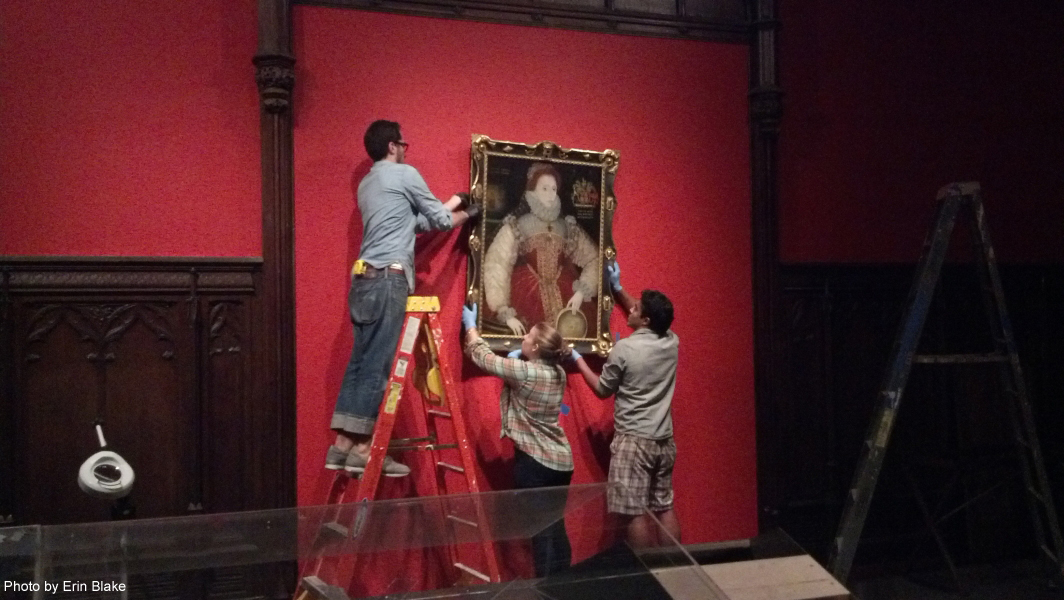 Hanging the Sieve Portrait