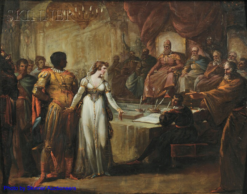 Painting of Othello, act 1, scene 3