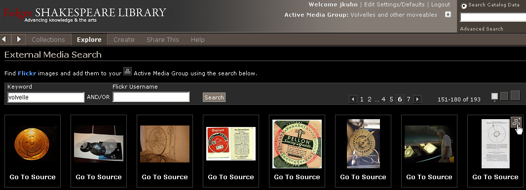 add flickr images to an active media group
