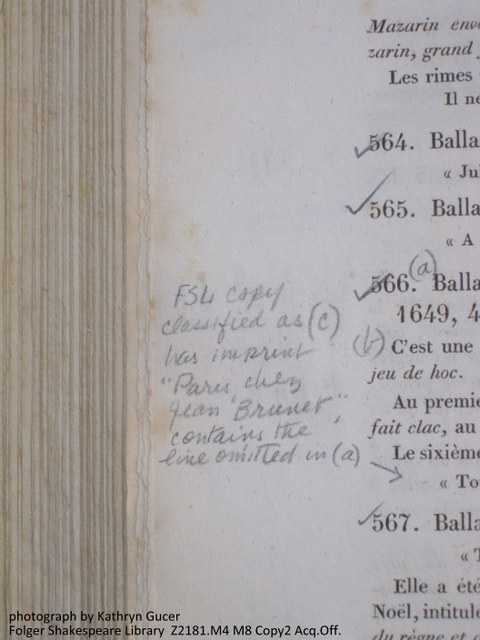 Cataloger's annotations