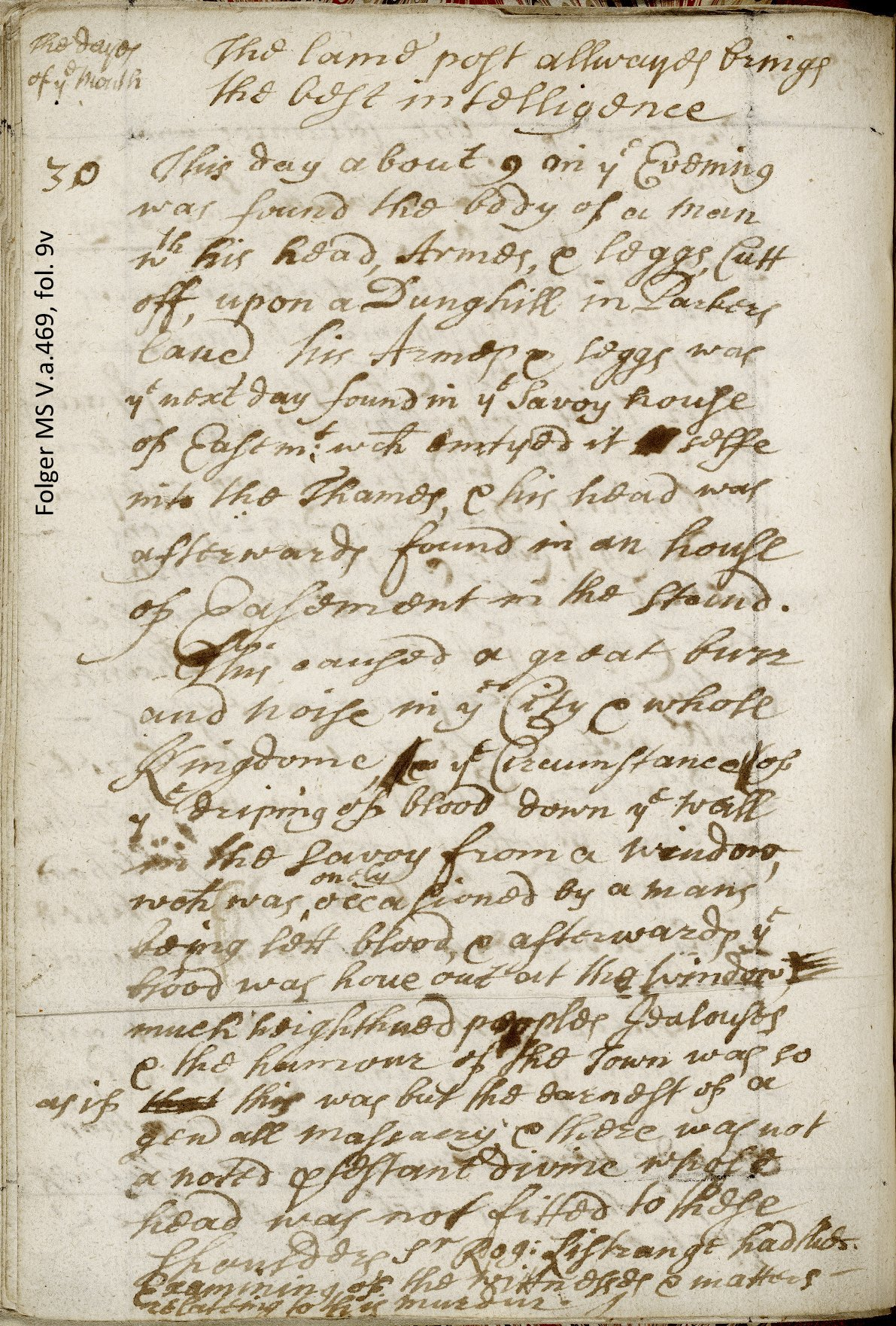 Diary entry for January 30, 1688