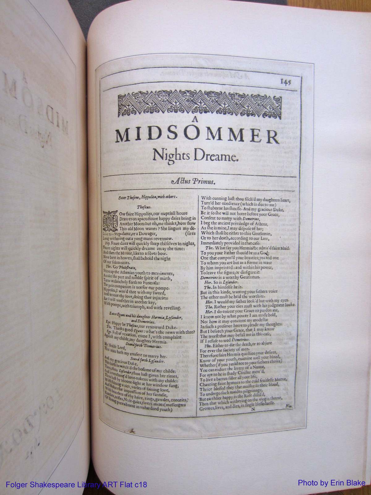 A Midsummer Night's Dream from a Second Folio edition of the Works of Shakespeare (1632)