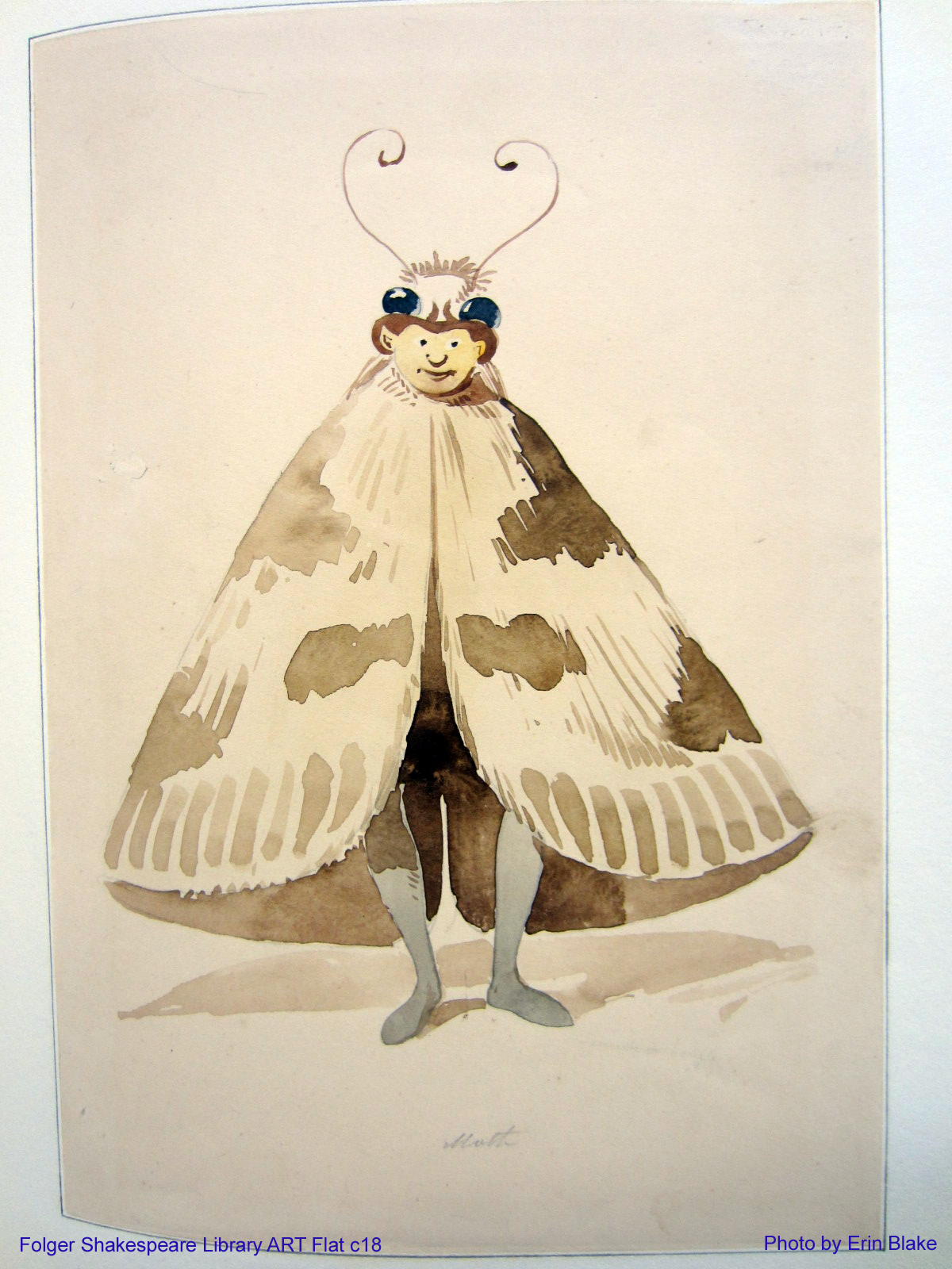 Costume design for Moth in Augustin Daly's 1888 production of A Midsummer Night's Dream