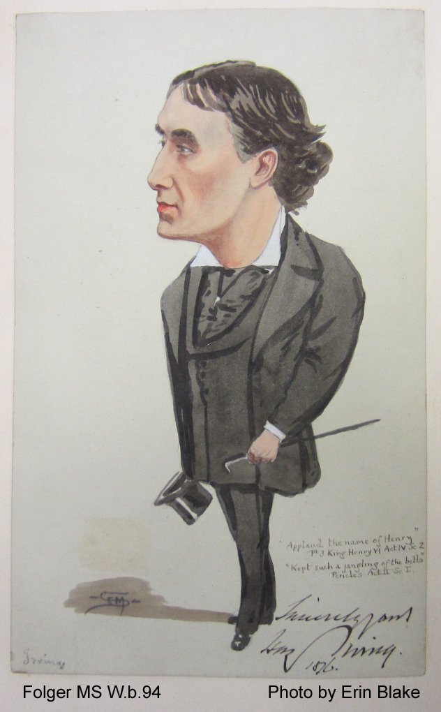 Sympathetic caricature of a plainly-dressed man
