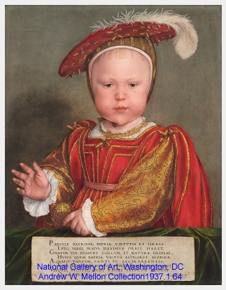 Colorful oil painting of a baby in rich clothes
