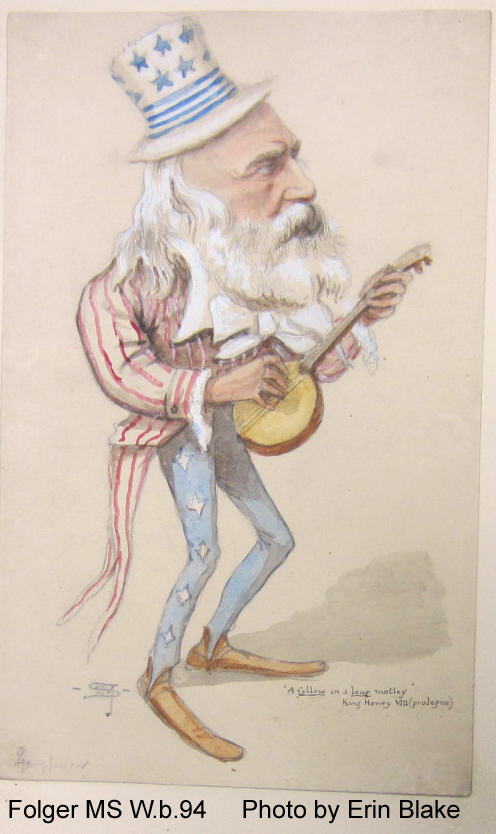 Caricature of Longfellow as Uncle Sam