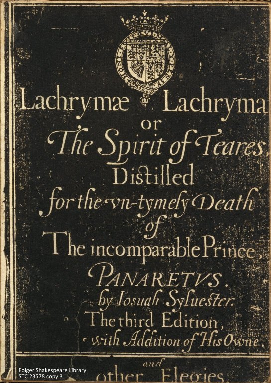 Title page of Lachrymae Lachrymarum (as digitzed by the Folger)