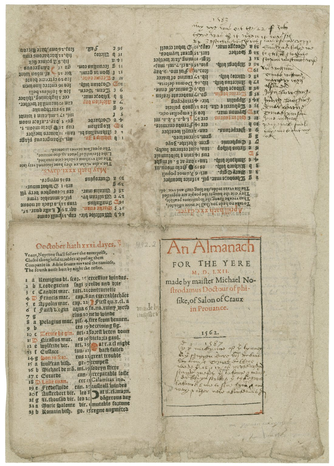 But leaves of a paper come from sheets of paper (here's an almanac that stayed uncut, even as it was annotated).