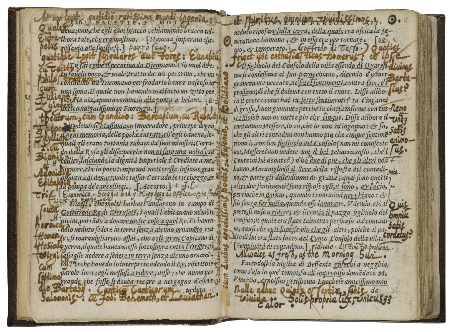 We look at this book and see annotation. But can we see it instead as manuscript? (It's cataloged that way.)