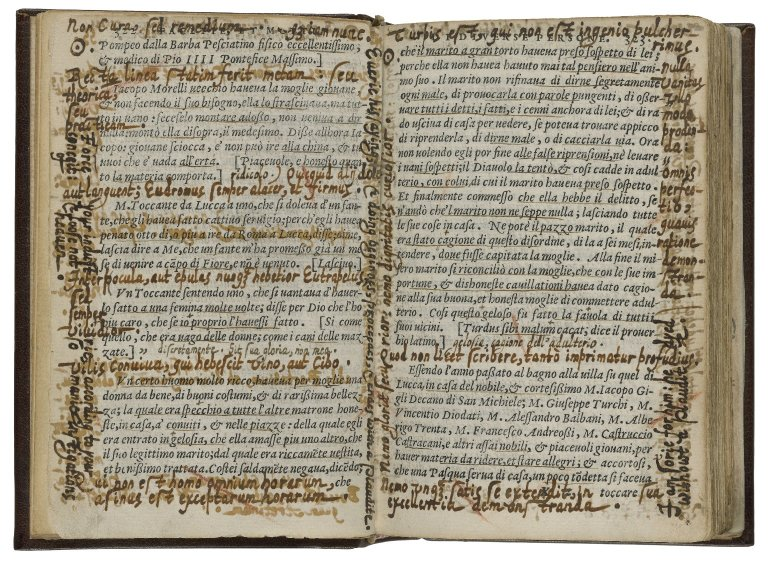 Gabriel Harvey's heavily annotated copy of Facetie (fol. 1v-2r)