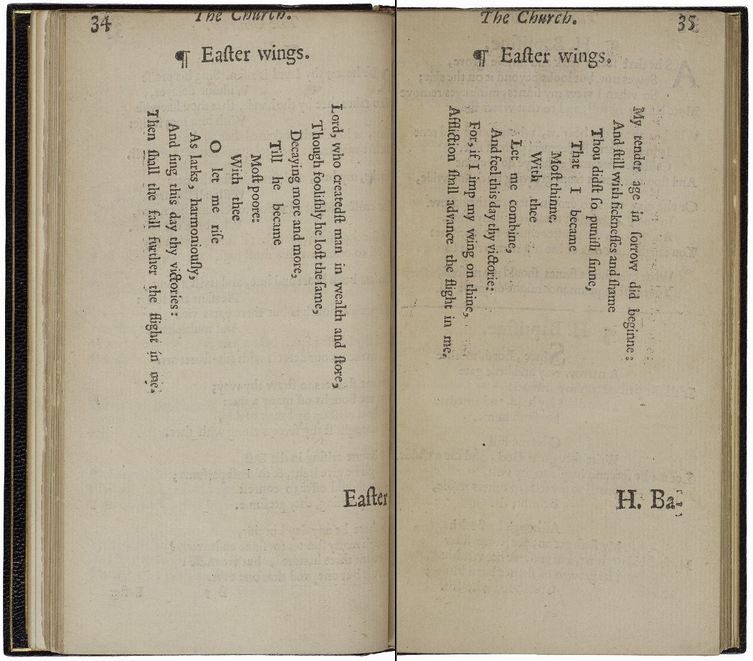 Sometimes unconventional typography seems straightforward: the shape of the poem mirrors the subject.