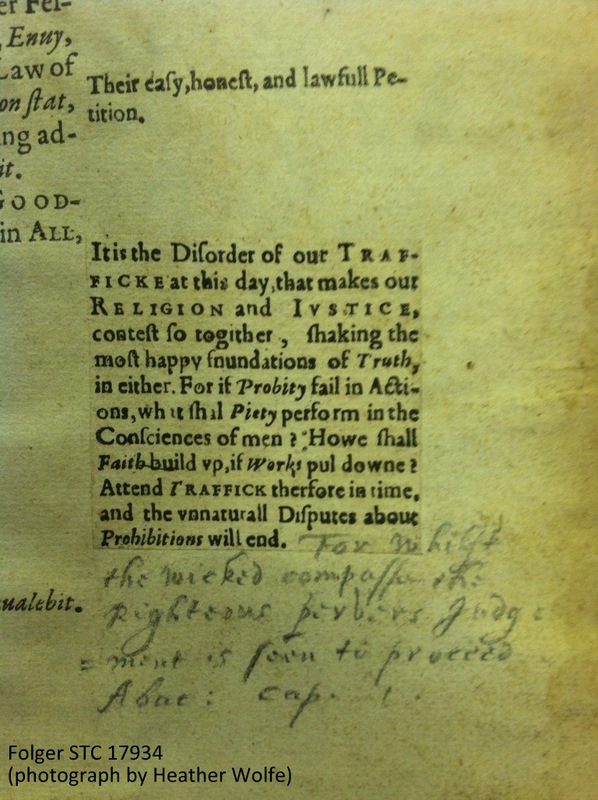 In addition to printed marginalia, printed slips of marginalia, and ink marginalia, Milles also added marginal notes in pencil. In this example, he supplements a printed slip with a pencil addition.