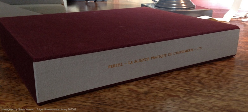 Case for the Folger copy of Fertel's La science pratique de l'imprimerie