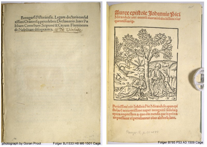 title pages of the 1501 and 1509 Martens editions