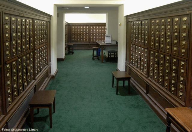 The card catalog room today