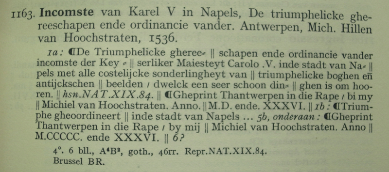 A description in volume 1 of Nijhoff-Kronenberg showing the use of paragraph marks in the title and elsewhere in the book.