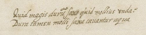 Detail from address leaf of Folger MS L.a.573, Letter from Anthony Kinnersley to Walter Bagot.