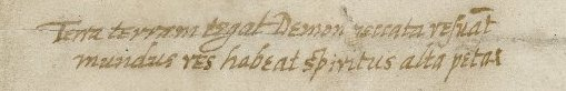 Detail from Folger MS L.a.605, Letter from Lettice Kinnersley to Walter Bagot, May 23, 1618(?).
