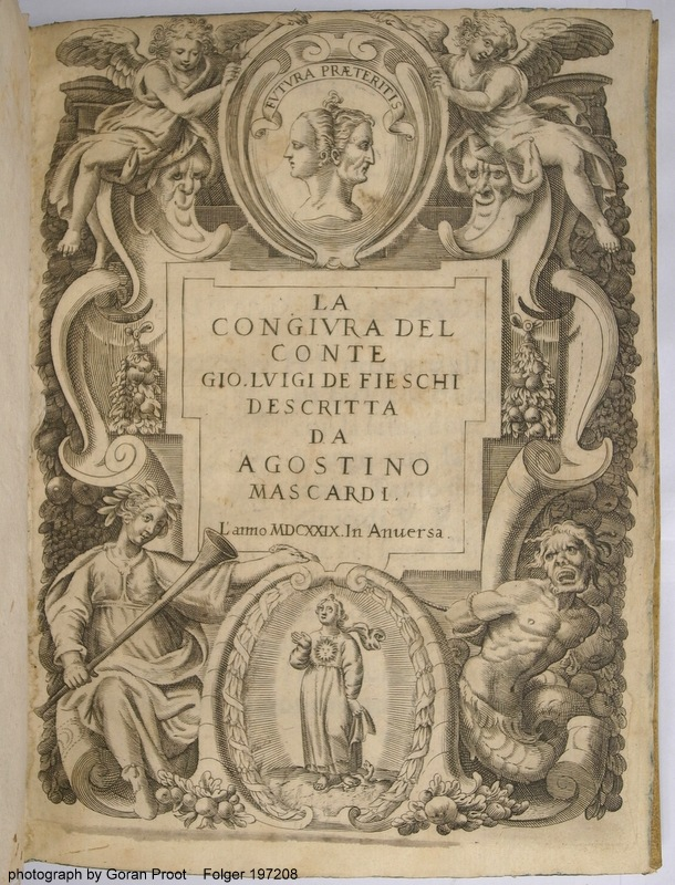 Engraved title page (fol. +1 recto) of the so-called Antwerp edition (Folger 197208)