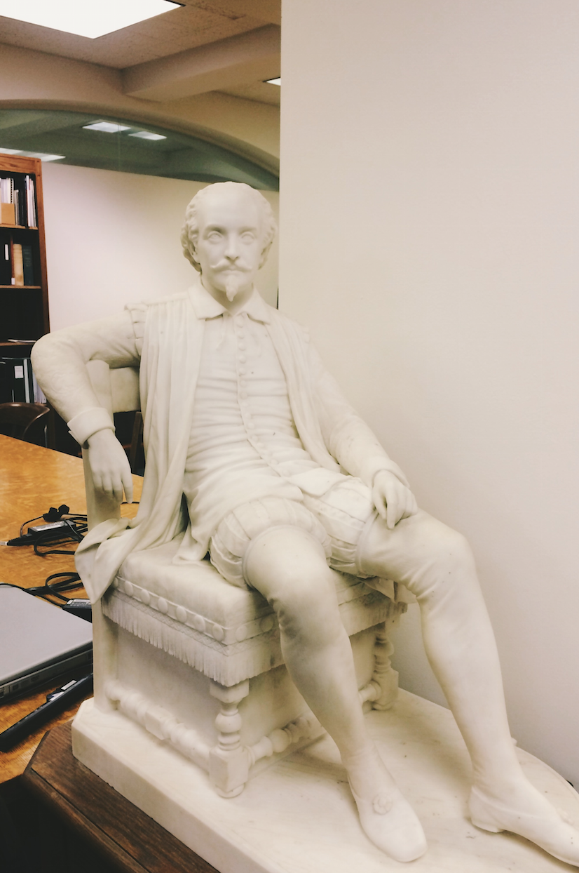 Shakespeare Statue - Folger Cataloging