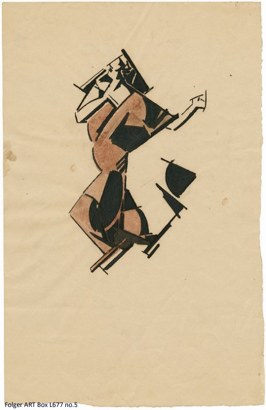 Semi-abstract dancing figure
