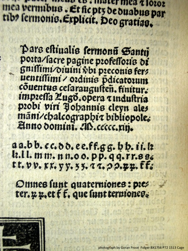 Colophon (fol. 2[ter]6 verso) followed by binder's instructions