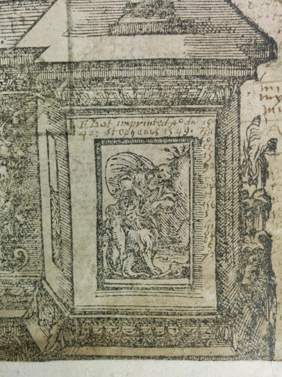 Detail of lower right corner of title page of STC 13941.