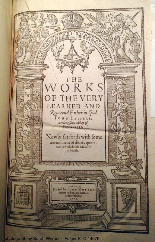 title page of John Jewel's 1609 Works
