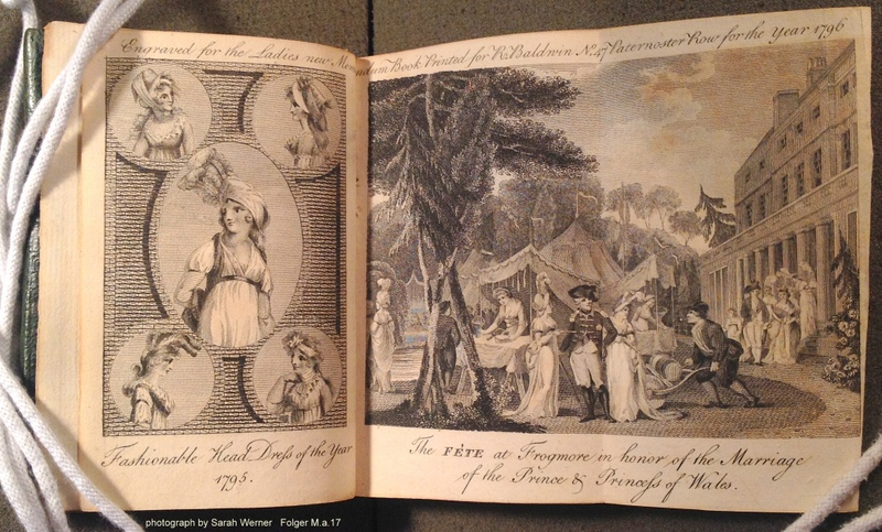 engravings included as part of the diary