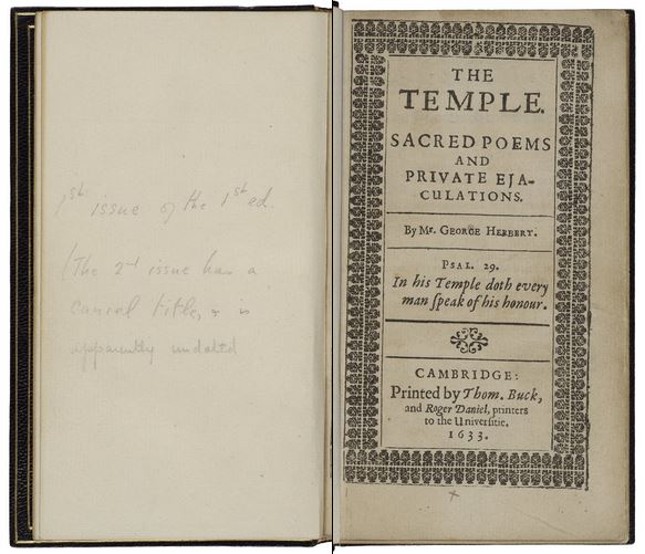 penciled inscription facing the title page