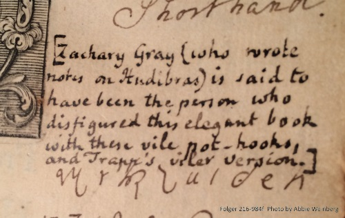 Snarky note condemning the shorthand annotations