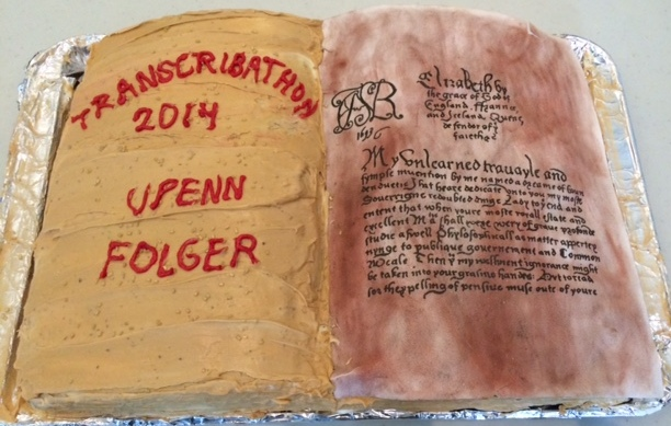 a special confection prepared by cake-maker and Penn CLIR Fellow Laura Aydelotte