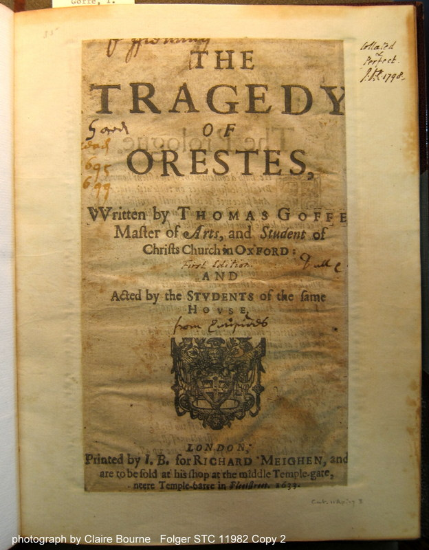 """Orestes doesn't include the reader's assessment but is marked as having been """"read"""" (sig. A1r)"""