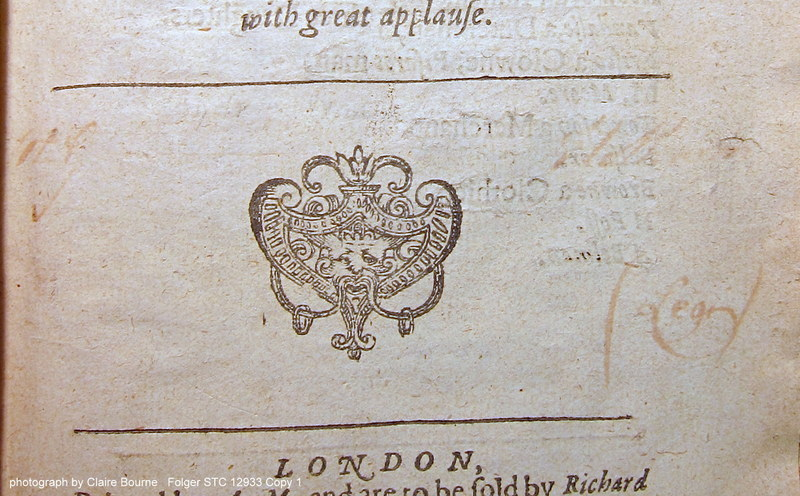 """Here, a faint """"(Legi)"""" is visible on the title page of Englishmen for My Money (sig. A1r)"""