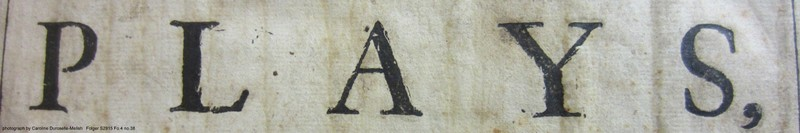 worn type from the title page