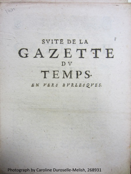"An issue of the journal ""La Gazette du Temps"""