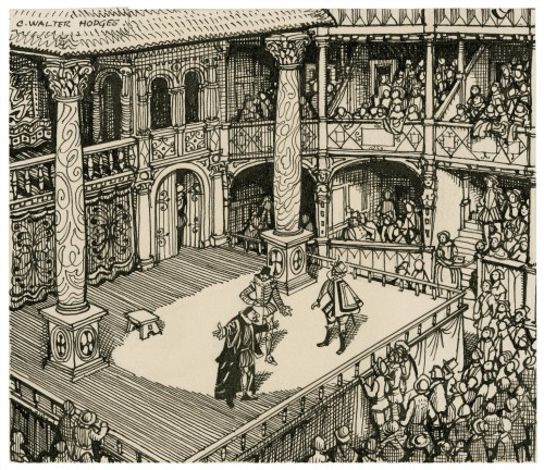 an analysis of the features of the globe theater in the elizabethan era