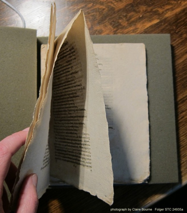 Trial of Chivalry features unopened pages, making it one of very few extant examples of a playbook as prospective readers would have encountered it in the London bookstalls.