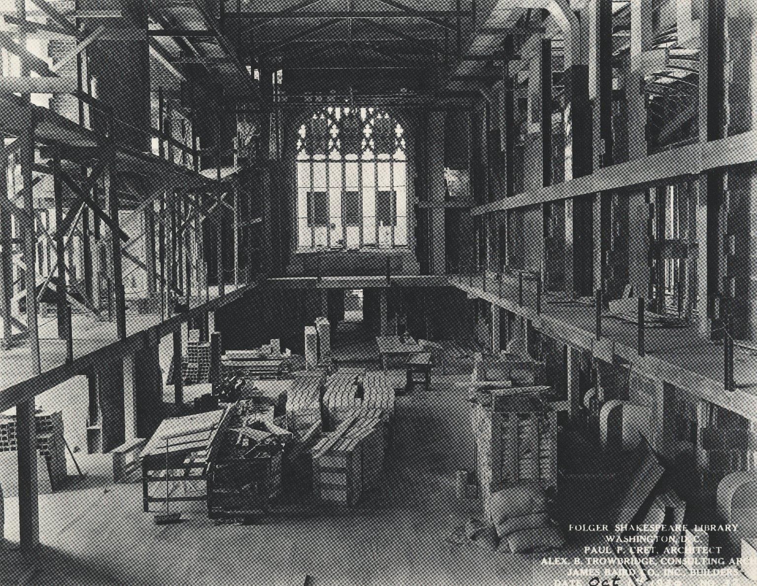 Construction of the reading room