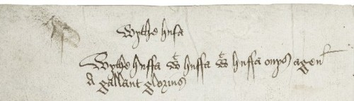 180 degree turned view of marginal annotations