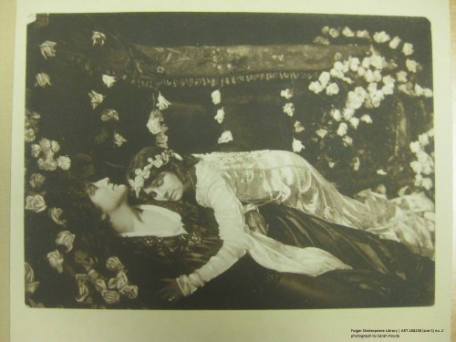 Romeo (Francis X. Bushman) and Juliet (Beverly Bayne) at the tomb in a still from Metro's Romeo & Juliet.