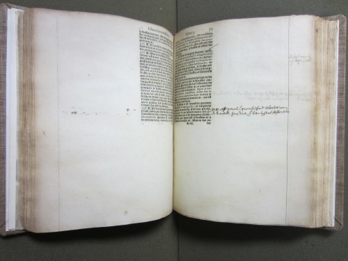 A copy on large paper with extra wide margins