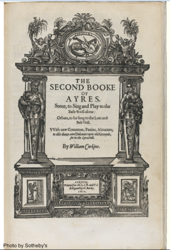 Title page of the Second Book of Ayres