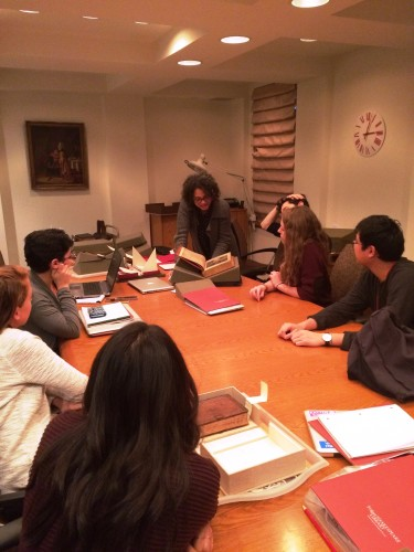 The Amherst Fellows with Caroline Duroselle-Melish, our Curator of Early Modern Books and Prints